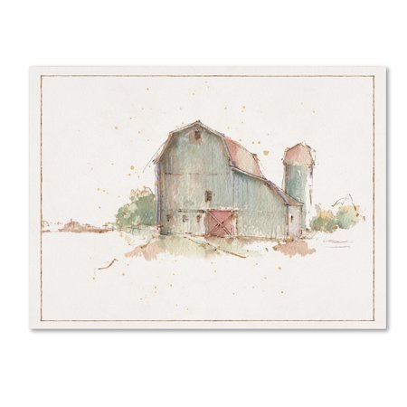 Trademark Fine Art 'Farm Friends XIV Barn' Canvas Art by Lisa Audit
