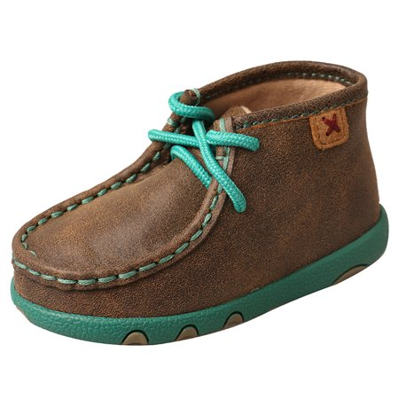 Twisted X Boots Boys Infant Driving Mocs Bomber/Turquoise ()