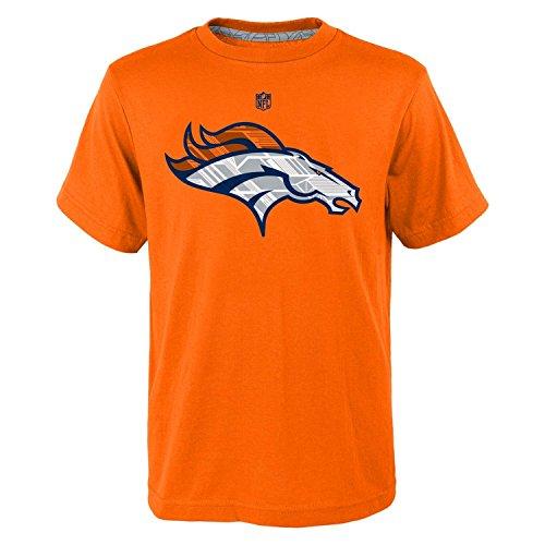 Denver Broncos NFL Youth Power Grid Team Logo T-Shirt Orange (Youth Large 14/16)