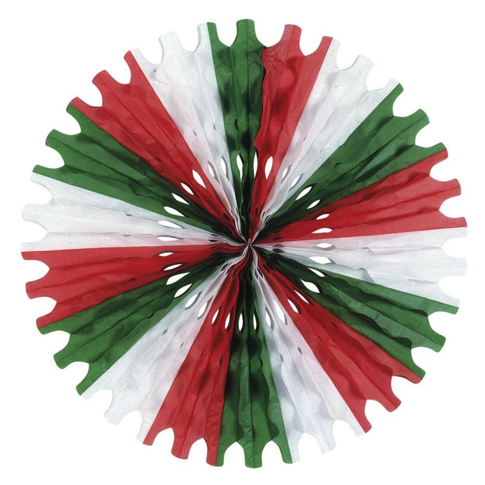 (Pack of 12) Cinco de Mayo Party Tissue Fan red, white, green