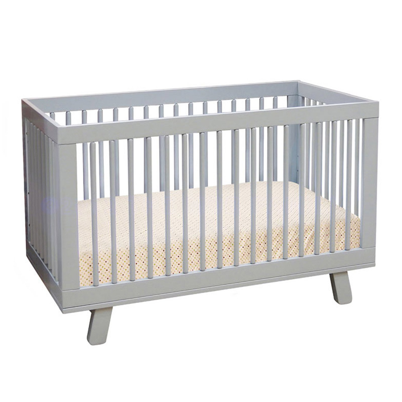Babyletto Hudson 3-in-1 Convertible Crib with Toddler Rail, Grey