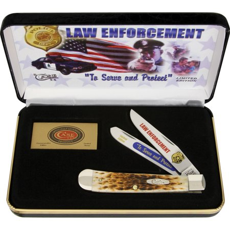 Case CALE Law Enforcement Trapper Folding Knife Pocket (Law Enforcement Folder)