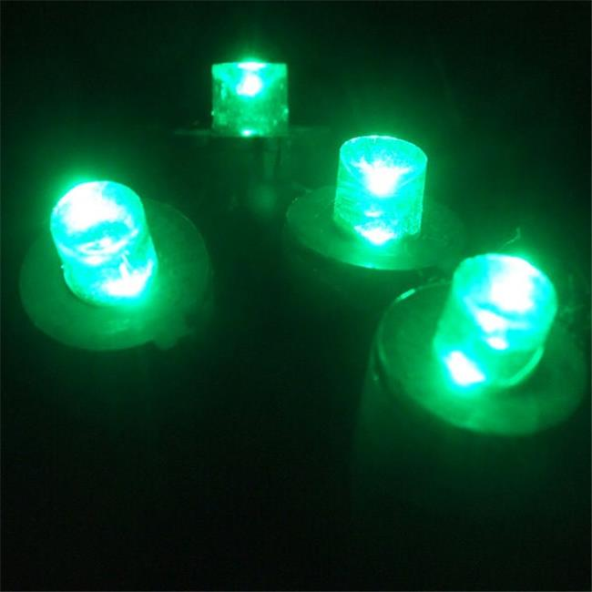 Kellogg Plastics 45314 0.25 in. Holiday & Christmas Indoor & Outdoor LED- Green