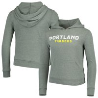 Portland Timbers 5th & Ocean by New Era Girls Youth Tri-Blend Pullover Hoodie - Heathered Green