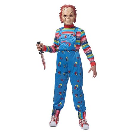 Chucky Child Costume - Medium & Large, Size 10-12](Chucky Costume)