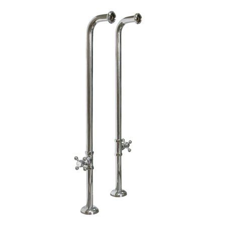 Barclay 4502MC-31-BN Freestanding Tub Supplies with Stops & Cross Handl
