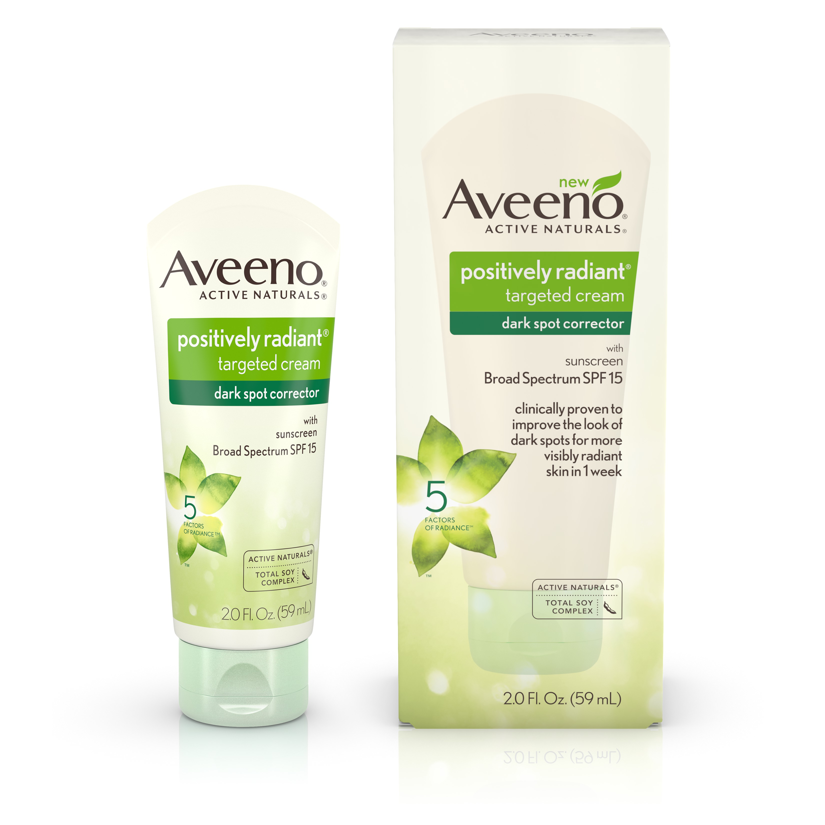 Aveeno Positively Radiant Dark Spot Corrector Cream with Total Soy Complex 2.0 fl. oz