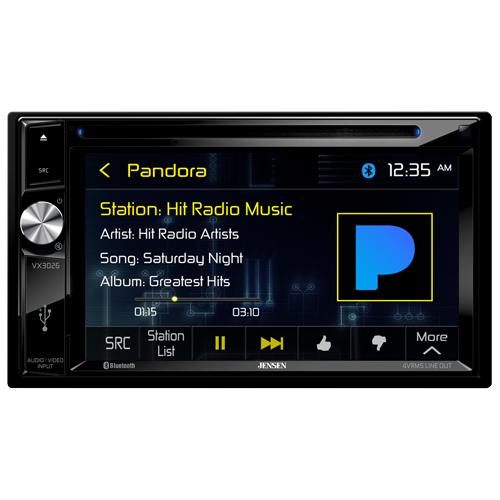 Jensen VX3026 2 DIN A V Receiver w  DVD | Bluetooth | USB | AV Input by Jensen