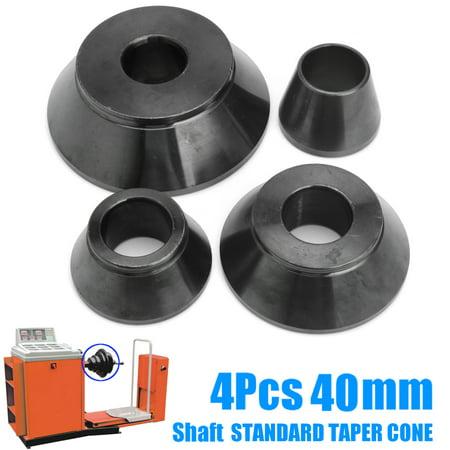 Aimeeli 4Pcs Shaft Wheel Balancer Standard Taper Cone Kit Set Tools Accuturn Coats Iron 0.2''/0.26''/0.34''/4.79'' ()