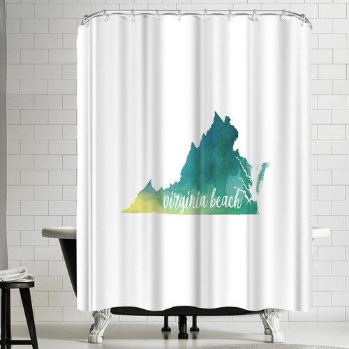East Urban Home Paperfinch VA Virginia Beach Shower Curtain