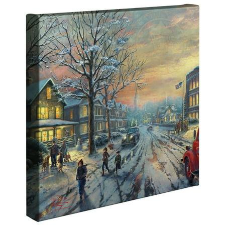 "Thomas Kinkade A Christmas Story - 14"" x 14"" Gallery Wrapped Canvas"