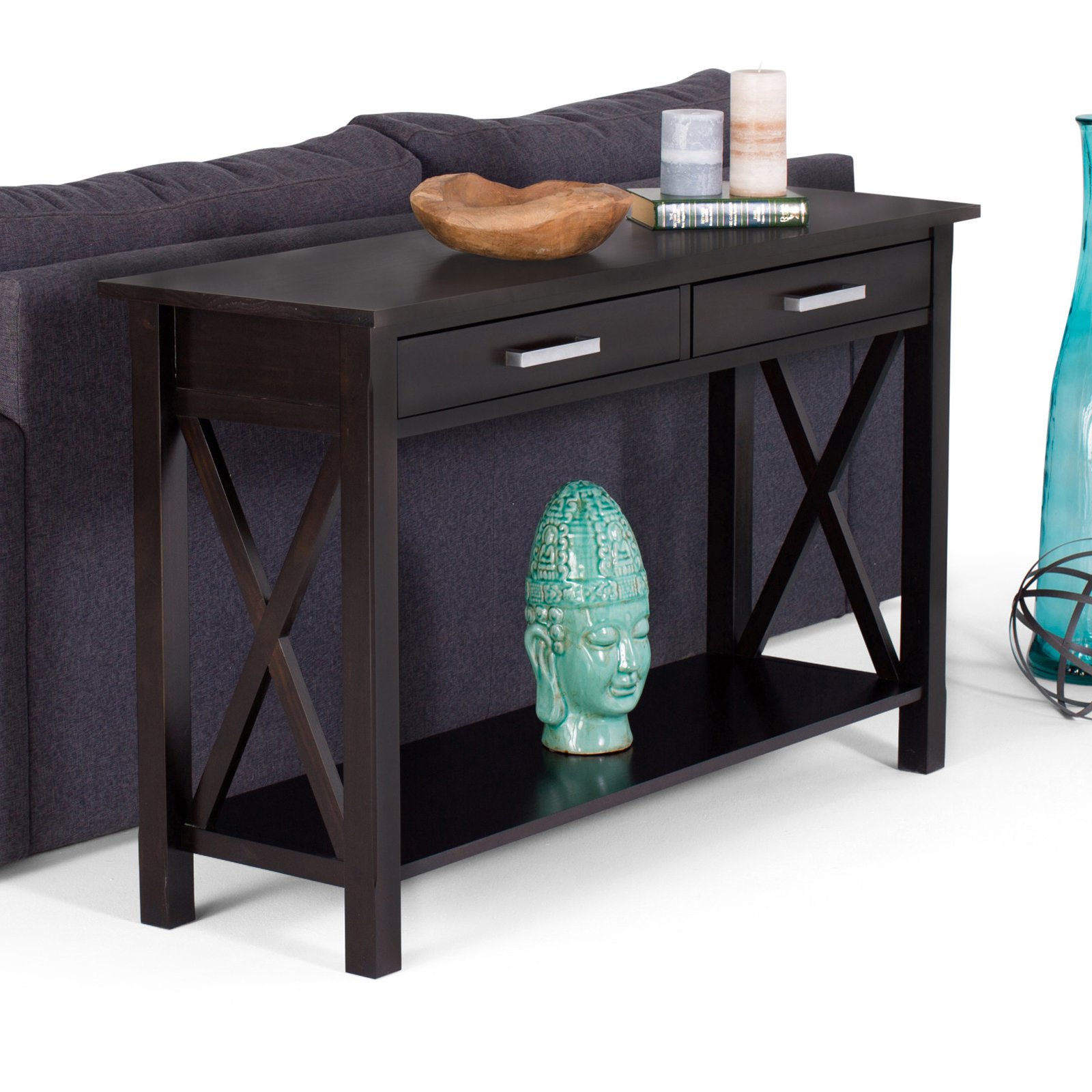 Simpli Home Kitchener Console Sofa Table by CCT Global Sourcing Inc
