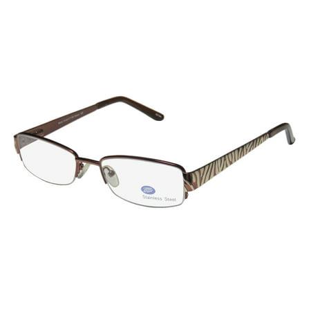 New Boots Kristin11152 Womens/Ladies Designer Half-Rim Brown / Gold Popular Style Elegant Hot Frame Demo Lenses 50-17-135 Flexible Hinges Eyeglasses/Eye Glasses](Boot Glasses)