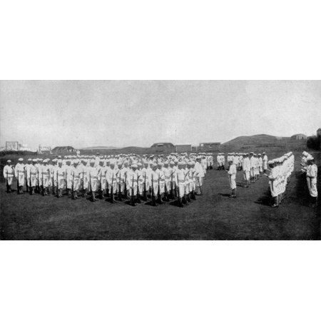 LAMINATED POSTER LEARNING THE NATIONAL AIR. An open-air singing class at the Naval Training Station, Newport, Rhode I Poster Print 24 x 36](Halloween Learning Stations)