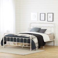 South Shore Prairie Queen Metal Platform Bed, Antique White