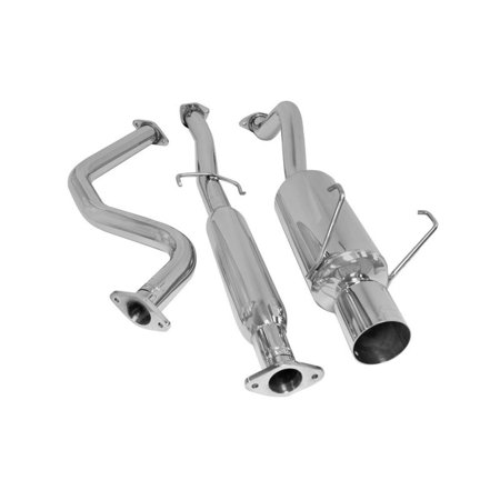 Dc Sports Dual Exhaust System (DC Sports SCS8008 Cat Back Stainless Steel Exhaust Systems)