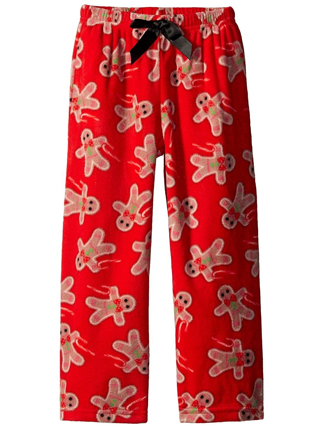 Girl Thing Girls Green Fleece Candy Cane Sleep Pants Pajama Bottoms