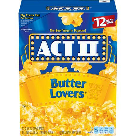 - ACT II Butter Lovers Popcorn, 2.75 Oz., 12 Count