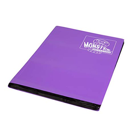 Monster Binder - 9 Pocket Trading Card Album - Matte Purple (Anti-theft Pockets Hold 360+ Yugioh Pokemon Magic the Gathering Cards) - image 4 of 4