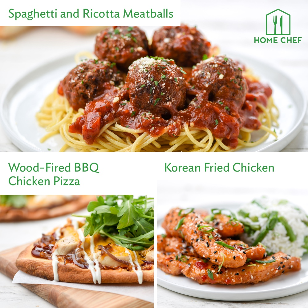 Home Chef Meal Kits, Comfort Dinner for 2. 3 Meals