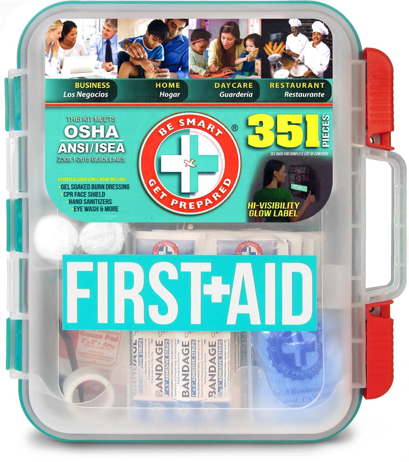 Be Smart Get Prepared 351 Piece First Aid Kit by Total Resources International