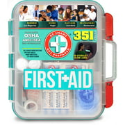 Be Smart Get Prepared 351 Piece First Aid Kit