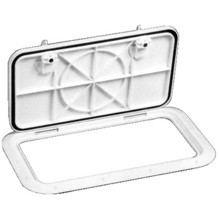 """Bomar Molded Off White 12-1/8"""" x 21-1/8"""" Inspection Hatch"""