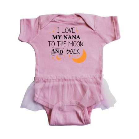 I Love My Nana To The Moon and Back Infant Tutu - I Love Lucy Onesie