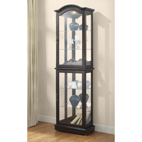 Charlton Home Loyer Lighted Curio Cabinet