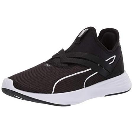 PUMA Womens Radiate XT Slip-ON Sneaker, Black Silver, 6.5 M US