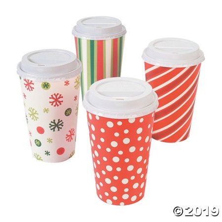Bright Christmas Insulated Coffee Paper Cups Christmas Coffee Cup