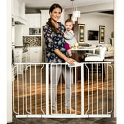 regalo 58 inch extra widespan walk through baby gate bonus kit includes 6 - Gates For Stairs