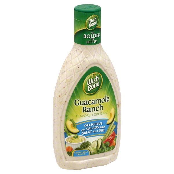 Wish-Bone Guacamole Ranch Flavored Dressing 16 fl. oz. Bottle