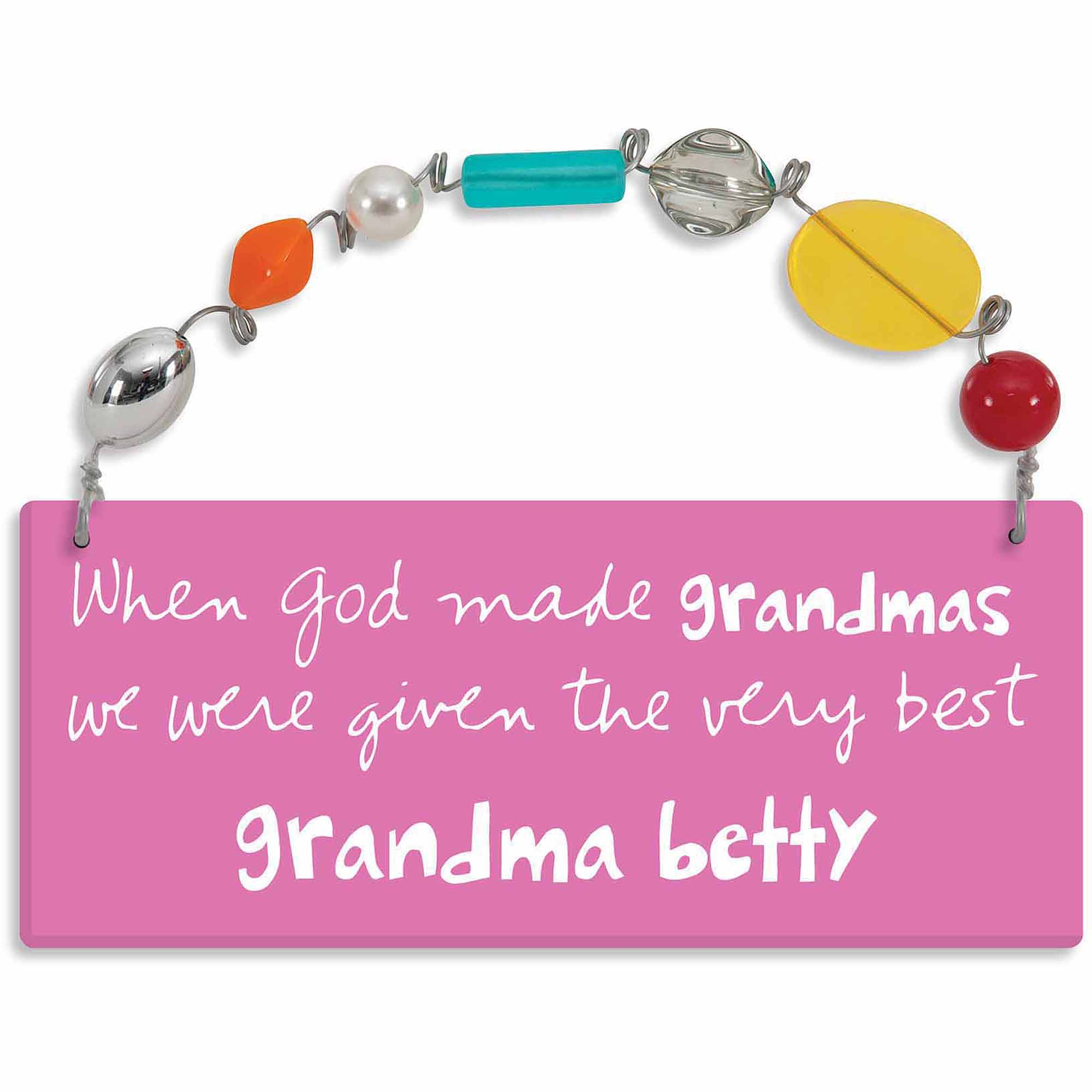 Personalized Sandra Magsamen When God Made Grandmas Wall Plaque with Name
