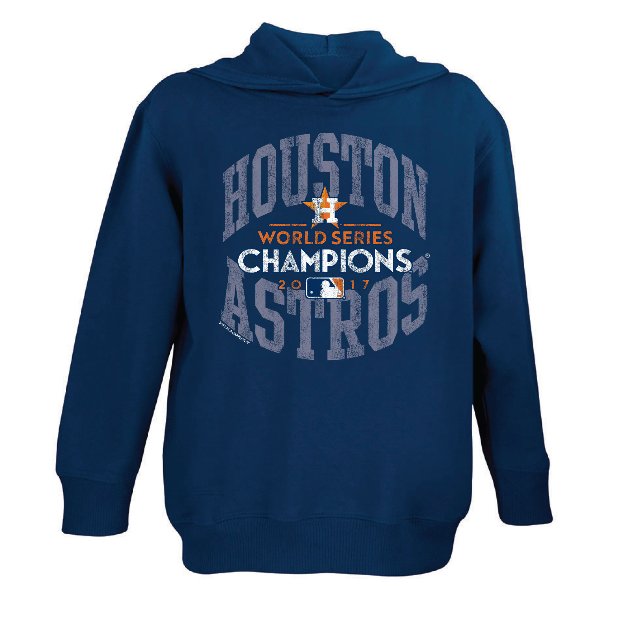 Houston Astros Soft as a Grape Toddler 2017 World Series Champions Pullover Hoodie - Navy - 2T