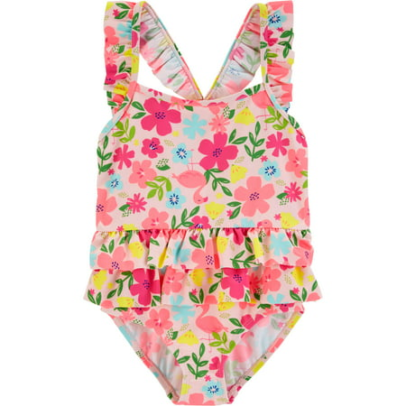 Child of Mine by Carter's One-piece Swimsuit (Toddler Girls) - Toddler Girl Swimwear Clearance