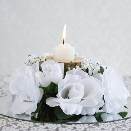 Efavormart 8 pcs Artificial ROSES Flowers Candle Rings for DIY ...