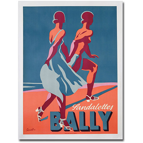 "Trademark Art ""Bally Sandals, 1935"" Canvas Wall Art by Gerald"