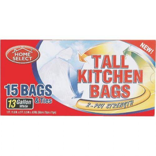 Ddi 15 Ct 13 Gallon Tall Kitchen Trash Bags