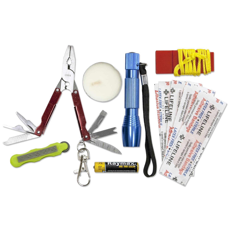 Lifeline Weather Resistant Survival First Aid Kit 13 Pieces