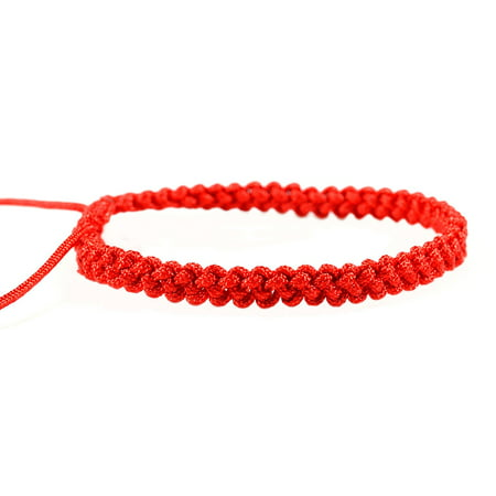 Red string bracelet , Kabbalah bracelet, woven braided adjustable bracelet - men women st030 (String Bracelet)