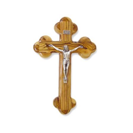 "Olive Wood ""The Cross Of The Fourteen Stations?"" W/Crucifix. (10""H)"