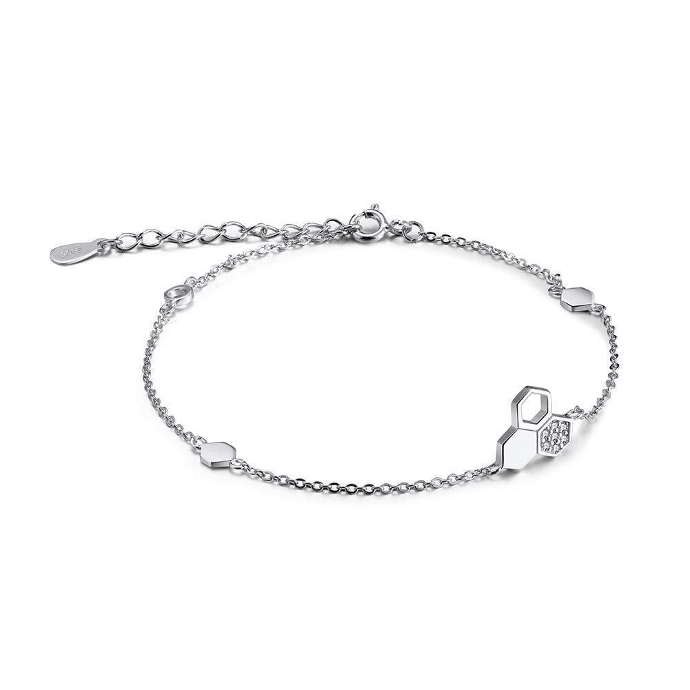 Ginger Lyne Collection Glass Bead Snake Chain Charm Bracelet Pink