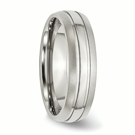Stainless Steel Grooved 6mm Brushed Wedding Ring Band Size 10.50 Fashion Jewelry For Women Gifts For Her - image 3 of 9