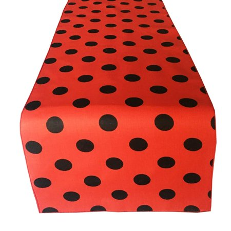 lovemyfabric Poly Cotton Fun with Polka Dots/Spots Print Table Runner for Birthdays/Baby Shower Party and Special Events Printed Table Runner