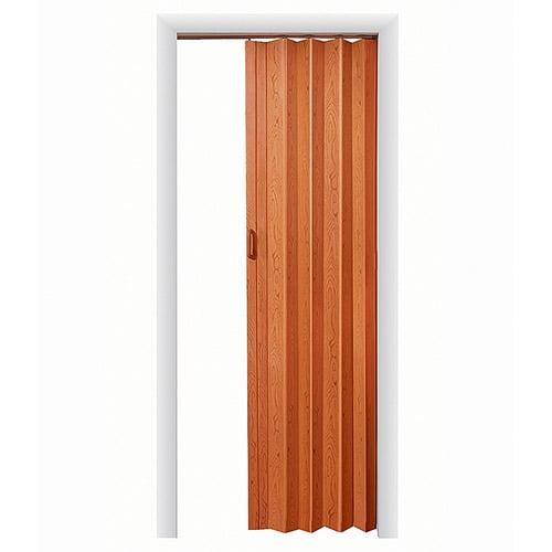 """HomeStyles Plaza Vinyl Accordion Door, 36"""" x 80"""", Pecan"""