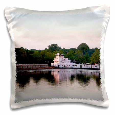 3dRose River barge tug boat, Arkansas River, Arkansas - US04 DFR0041 - David R. Frazier, Pillow Case, 16 by 16-inch