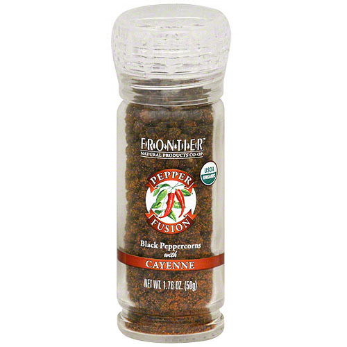 Frontier Natural Products Black Peppercorns With Cayenne, 1.76 oz (Pack of 6)