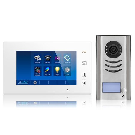 Video Intercom Entry System DK4711 1 Apartment Audio/Video Kit with 1 Touch Screen