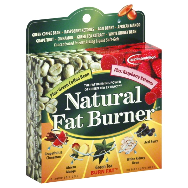 Applied Nutrition Natural Fat Burner with Green Tea & Raspberry Ketones, Liquid Soft-Gels, 30 Ct